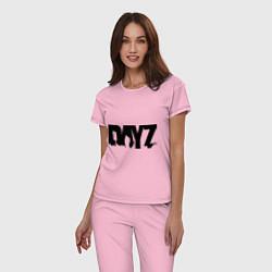 Пижама хлопковая женская DayZ цвета светло-розовый — фото 2