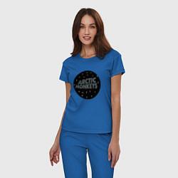 Пижама хлопковая женская Arctic Monkeys: Black цвета синий — фото 2