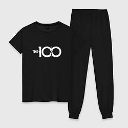 Пижама хлопковая женская The 100 цвета черный — фото 1