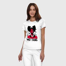 Пижама хлопковая женская Wu-Tang Insects цвета белый — фото 2