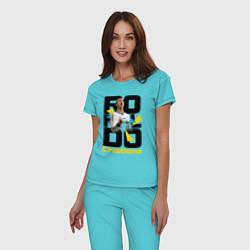 Пижама хлопковая женская Ronaldo Funs цвета бирюзовый — фото 2