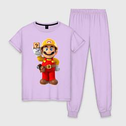 Пижама хлопковая женская Super Mario цвета лаванда — фото 1