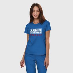 Пижама хлопковая женская Armin van Buuren: Embrace цвета синий — фото 2