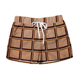 Женские шорты Шоколад