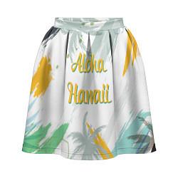 Юбка-солнце 3D женская Aloha Hawaii цвета 3D — фото 1