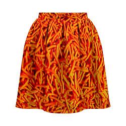 Юбка-солнце 3D женская Морковь цвета 3D — фото 1