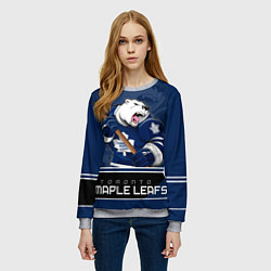 Свитшот женский Toronto Maple Leafs цвета 3D-меланж — фото 2