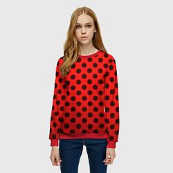 Свитшот женский Леди Баг: узор цвета 3D-красный — фото 2