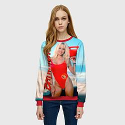 Свитшот женский Baywatch: Pamela Anderson цвета 3D-красный — фото 2