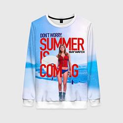 Свитшот женский Summer is coming цвета 3D-белый — фото 1