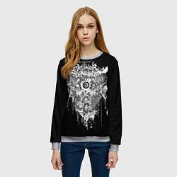 Свитшот женский Dethklok Skeletons цвета 3D-меланж — фото 2
