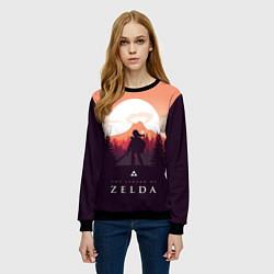 Свитшот женский The Legend of Zelda цвета 3D-черный — фото 2