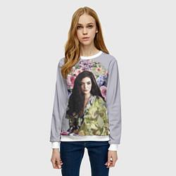 Свитшот женский Lorde Floral цвета 3D-белый — фото 2