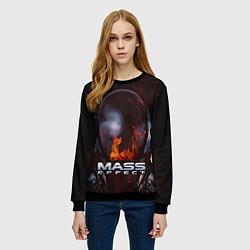 Свитшот женский Mass Effect цвета 3D-черный — фото 2