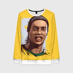 Свитшот женский Ronaldinho Art цвета 3D-белый — фото 1