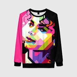 Свитшот женский Michael Jackson Art цвета 3D-черный — фото 1