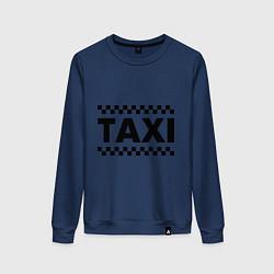 Свитшот хлопковый женский Taxi цвета тёмно-синий — фото 1