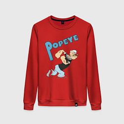 Свитшот хлопковый женский Popeye цвета красный — фото 1