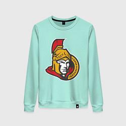 Свитшот хлопковый женский Ottawa Senators цвета мятный — фото 1