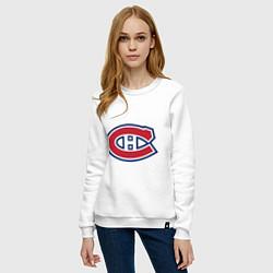 Свитшот хлопковый женский Montreal Canadiens цвета белый — фото 2