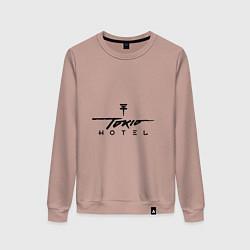 Свитшот хлопковый женский Tokio Hotel цвета пыльно-розовый — фото 1