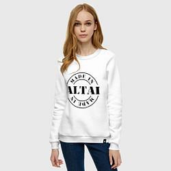 Свитшот хлопковый женский Made in Altai цвета белый — фото 2