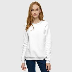 Свитшот хлопковый женский Megadeth цвета белый — фото 2