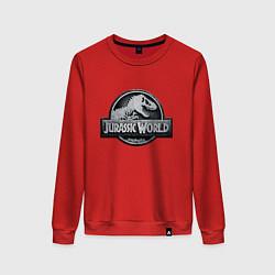 Свитшот хлопковый женский Jurassic World цвета красный — фото 1