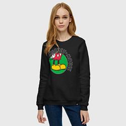 Свитшот хлопковый женский Mickey Mouse цвета черный — фото 2