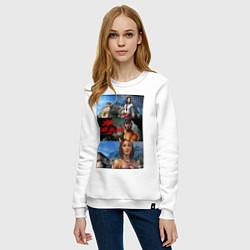 Свитшот хлопковый женский Dead Island Мертвый остров цвета белый — фото 2