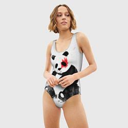Купальник-боди 3D женский Рок-панда цвета 3D — фото 2