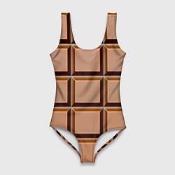 Женский купальник-боди Шоколад