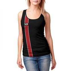 Майка-безрукавка женская Mass Effect N7 цвета 3D-черный — фото 2