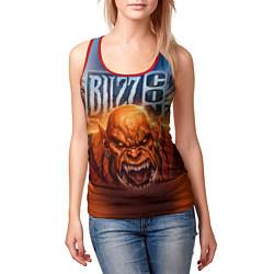 Майка-безрукавка женская BlizzCon цвета 3D-красный — фото 2