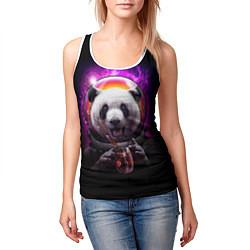 Майка-безрукавка женская Panda Cosmonaut цвета 3D-белый — фото 2
