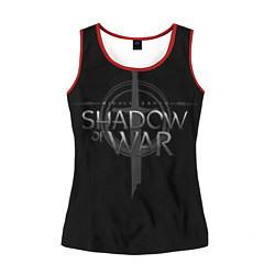 Майка-безрукавка женская Shadow of War цвета 3D-красный — фото 1