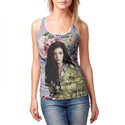 Майка-безрукавка женская Lorde Floral цвета 3D-белый — фото 2