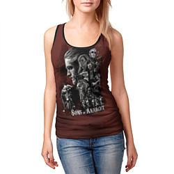 Майка-безрукавка женская Sons Of Anarchy цвета 3D-черный — фото 2