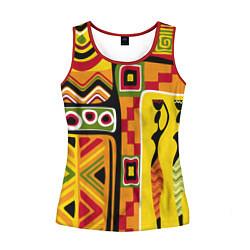 Майка-безрукавка женская Африка цвета 3D-красный — фото 1