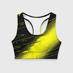 Топик спортивный женский Bona Fide Одежда для фитнеcа цвета 3D-принт — фото 1