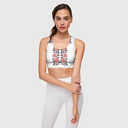 Топик спортивный женский Вышивка 28 цвета 3D — фото 2
