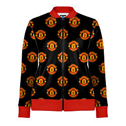 Олимпийка женская Manchester United Pattern цвета 3D-красный — фото 1