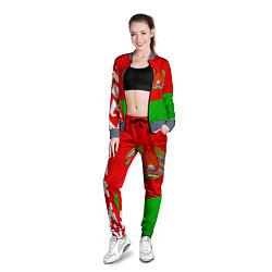 Олимпийка женская Патриот Беларуси цвета 3D-серый — фото 2