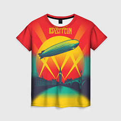 Футболка женская Led Zeppelin: Hindenburg цвета 3D — фото 1