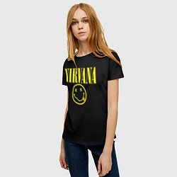 Футболка женская Nirvana Rock цвета 3D — фото 2