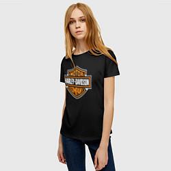 Футболка женская Harley-Davidson: Motor Company цвета 3D — фото 2