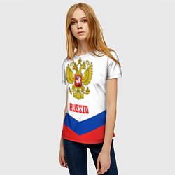 Футболка женская Russia Hockey Team цвета 3D-принт — фото 2