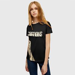 Футболка женская Scorpions Rock цвета 3D-принт — фото 2