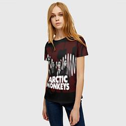 Футболка женская Arctic Monkeys: White Waves цвета 3D-принт — фото 2