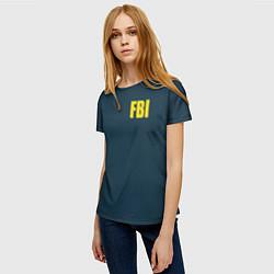 Футболка женская FBI цвета 3D-принт — фото 2